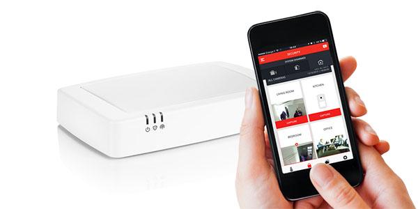 Le Sucre Honeywell beveiligings app kijken op mobiele telefoon