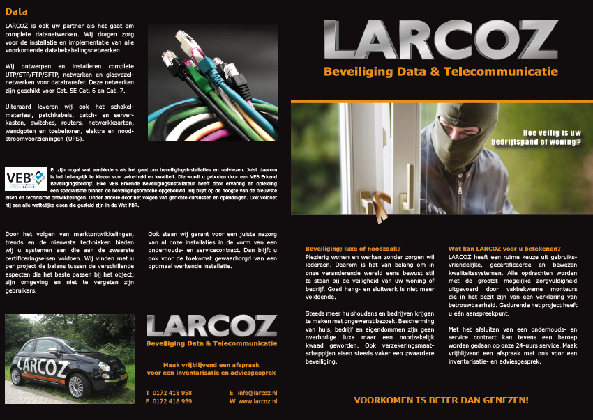 brochure LARCOZ beveiliging