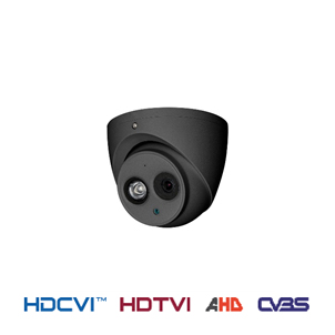 4 in 1 HDCVI fixed dome camera donkergrijs outdoor 50 meter 2 MP