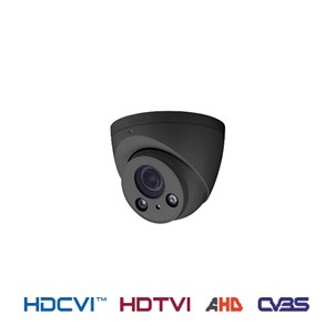 4 in 1 HDCVI fixed dome camera donkergrijs outdoor 60 meter 2 MP